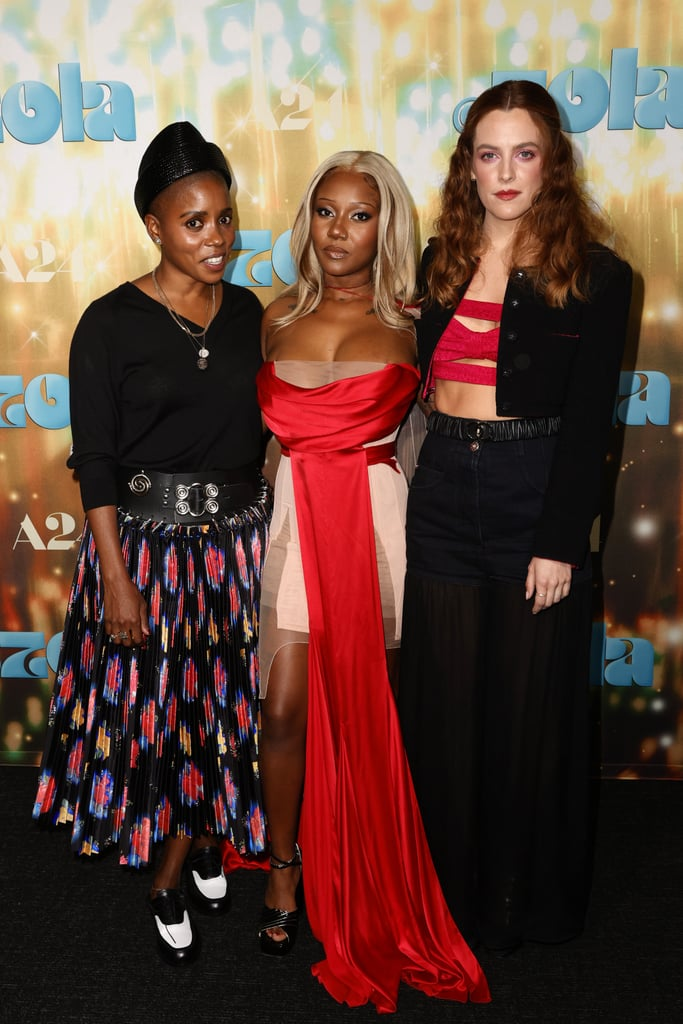 """The cast of Zola stepped out in full force for the LA screening of the highly anticipated film on Tuesday. Director Janicza Bravo, Riley Keough, Colman Domingo, Dave Franco, and Nelcie Souffrant all hit the red carpet together, and they were even joined by the real-life Zola herself, A'Ziah King. Also in attendance were Jodie Turner-Smith, Isis King, Arlo Parks, and several other stars.  Noticeably absent, though, was Taylour Paige, as she's currently in Bulgaria. However, she did take a moment to celebrate the film's release on Twitter. """"I love you everyone! 11:37AM in Bulgaria with happy tender tears that our movie Zola is officially live!!!"""" she tweeted. """"Whoever is to receive it, enjoy it, absorb it, love it might it find you. So appreciative of it all. Life is crazy.""""  Zola is based on a now-infamous 2015 Twitter thread and follows the story of Aziah, a former waitress at Hooters, and a sex worker named Jessica, who embarked on a wild road trip to Florida that involved stripping, prostitution, drugs, and murder. The movie first premiered at the 2020 Sundance Film Festival and officially hit theaters on June 30.       Related:                                                                                                           The """"True"""" Story Behind the Wild New Movie Zola, Inspired by THAT Viral Twitter Thread"""