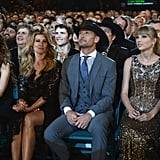 Shania Twain, Faith Hill, Tim McGraw, and Taylor Swift sat front row.