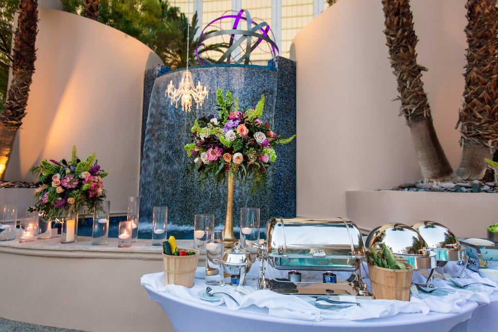 This Epic Vegas Wedding Featured Swimming Mermaids and a Pool-Floating Cake