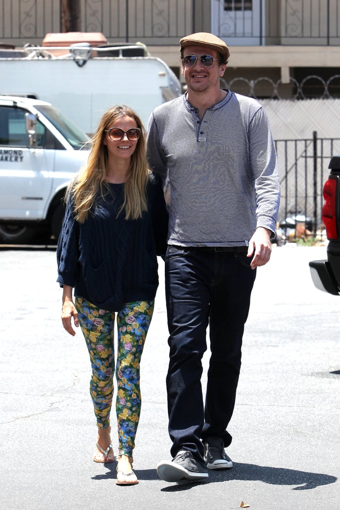 Jason Segel and his new girlfriend, Serbian-Australian actress Bojana Novakovic, took a stroll through Hollywood on June 9.