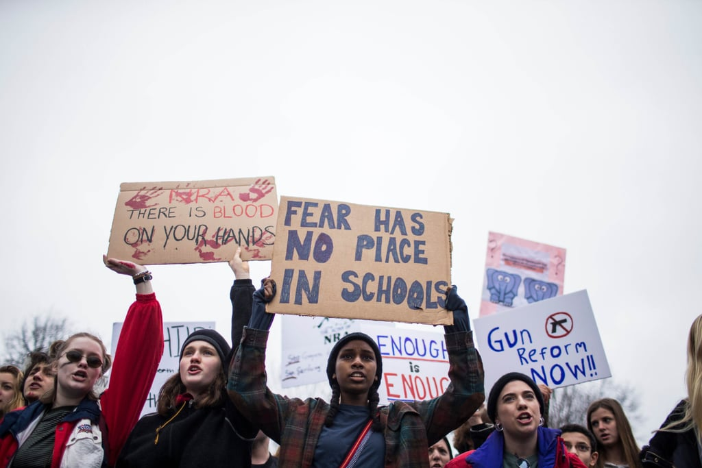Gun Control Protest Outside White House Feb. 2018