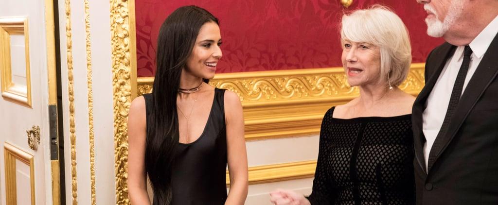 Cheryl Cole's Galvan Black Dress