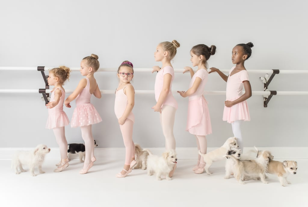 Photos From the First Pawsition Campaign Featuring Tiny Ballerinas and Cute Puppies