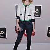Emma Roberts gave a smile at The Shops at Target launch party in NYC.