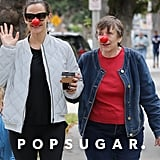 Jennifer Garner Has Perfected the Art of Drinking Coffee While Wearing a Clown Nose