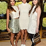 Jessica Alba, Brooklyn Decker, and Hailee Steinfeld made a fashionable trio on Tuesday when she attended the opening of a Tory Burch store in Beverly Hills.