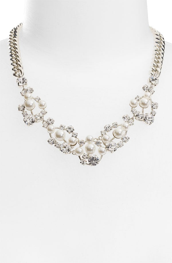 This has bridal glamour written all over it.  Givenchy Pine Street Collar Necklace ($95)