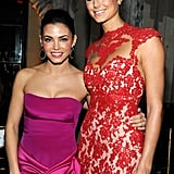 Stacy Keibler and Jenna Dewan checked out NYFW together.