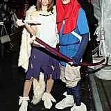 Barbara Palvin and Dylan Sprouse as Ashitaka and San From Princess Mononoke