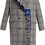MSGM Asymmetric-Ruffle Coat