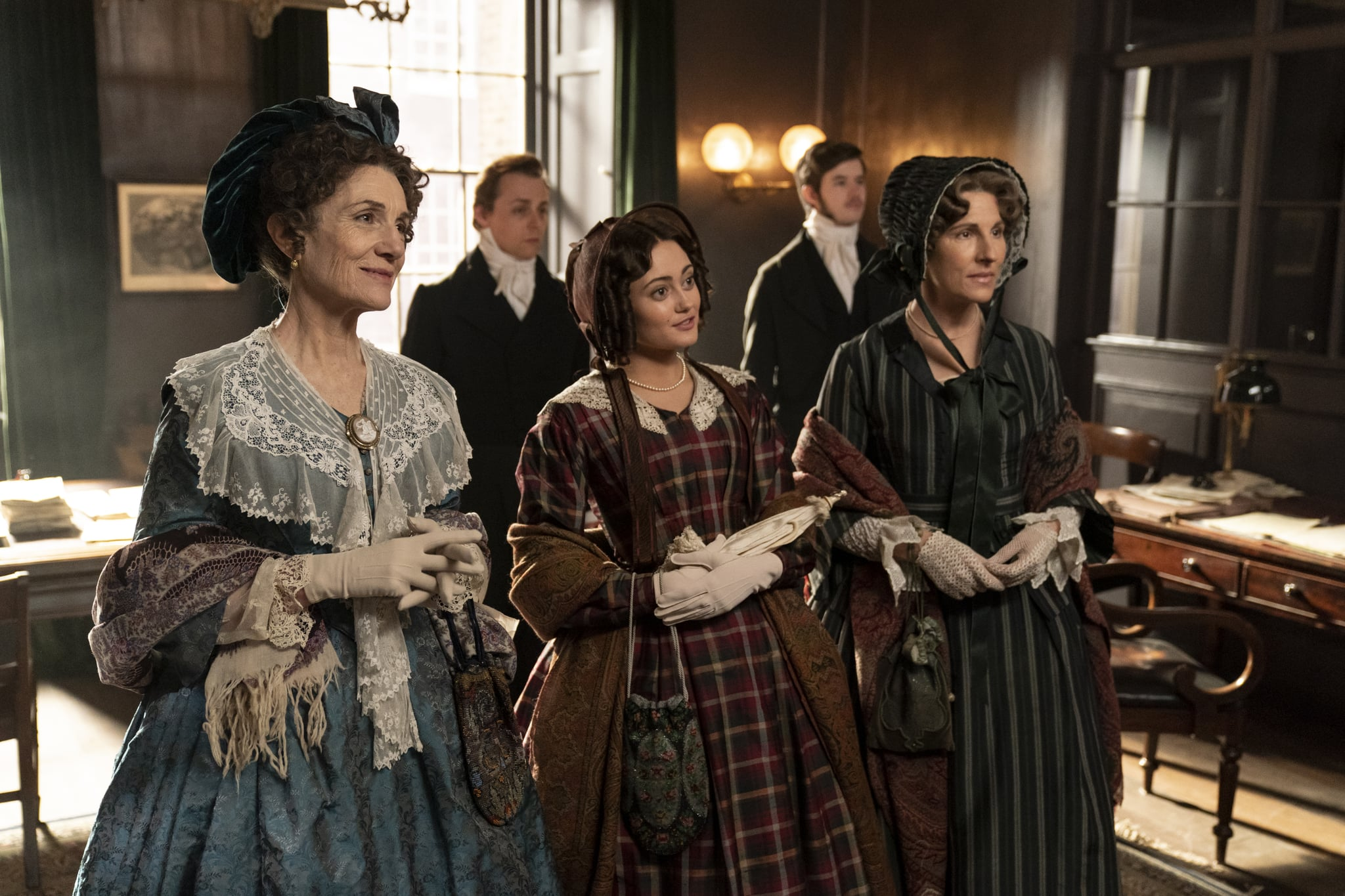 Belgravia, a brand new six-part series from Carnival Films coming to ITV and EPIX in 2020, tells Julian Fellowes intriguing tale of London society in the 19th Century.PICTURED:Harriet Walter as Lady Brockenhurst, Ella Purnell as Lady Maria Grey, Tamsin Greig as Anne TrenchardPhotographer Colin Hutton. The award-winning creative team behind Downton Abbey reunites with Fellowes, who has adapted from his bestselling novel of the same name for television screens, joined by a stellar ensemble cast including Tamsin Grieg, Philip Glenister, Harriet Walter, Tom Wilkinson and Alice Eve. Filming completed earlier this year at a range of stunning Victorian locations in London and the home counties, Edinburgh, Bath and Northumberland.  Belgravia is a story of secrets and dishonour amongst the upper echelon of London society in the 19th Century. When the Trenchards accept an invitation to the now legendary ball hosted by the Duchess of Richmond on the fateful eve of the Battle of Waterloo, it sets in motion a series of events that will have consequences for decades to come as secrets unravel behind the porticoed doors of Londons grandest postcode.  Carnival Films Gareth Neame is executive producer alongside Nigel Marchant, Liz Trubridge and Fellowes. John Alexander (Sense & Sensibility, Trust Me) directed the limited series with Colin Wratten (Killing Eve) producing.