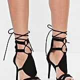 Alternative: Missguided Black Ankle Tie Gladiator Heeled Sandals