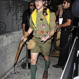 Darren Criss wore Boy Scout gear to a Saturday party in LA.