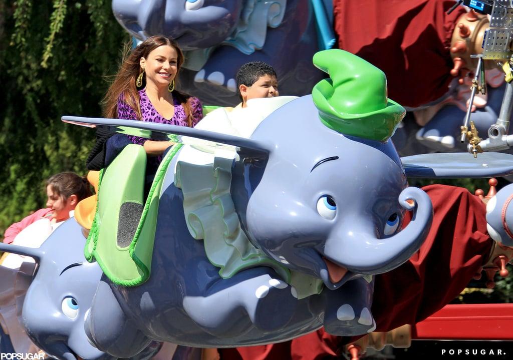 Sofia Vergara rode Splash Mountain while filming Modern Family in February 2012.