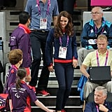 Prince William and Kate Middleton arrived together for the first day of the London 2012 Paralympic Games.