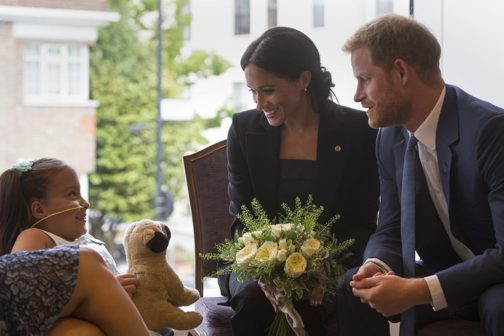 "It's no secret that Prince Harry adores kids, but his latest interaction with a little girl has us in a puddle of tears. On Tuesday, the royal attended London's WellChild Awards with Meghan Markle, where the pair met with children who were honored for their bravery and courage. One of those kids was 7-year-old Matilda Booth, who has spina bifida and is paralyzed from the chest down. During their meeting, Harry and Matilda shared an incredibly sweet moment when Harry told her to ""never stop smiling."" ""He made her pinky promise to always keep that beautiful smile,"" Matila's mom, Sharon Booth, told People. ""[Harry and Meghan] made us feel so much at ease. They were both so nice.""  And things only got cuter from there! Matilda presented Meghan with a bouquet of flowers, and in return, Meghan plucked one of the roses from the bouquet and gave it to Matilda to keep. ""She just seems so gentle and sincere,"" Sharon added. ""They were just like normal people."" Yep, Harry and Meghan are going to make great parents one day.       Related:                                                                                                           35 Times Meghan Markle Was Royally Adorable With Kids"