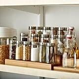 Three-Tier Bamboo Expanding Spice Shelf