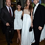 Chris Pine and Alec Baldwin brought their ladies to Vanity Fair and Gucci's party.