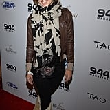 Olivia Wilde's scarf is a playful splash of print at Sundance in 2008.