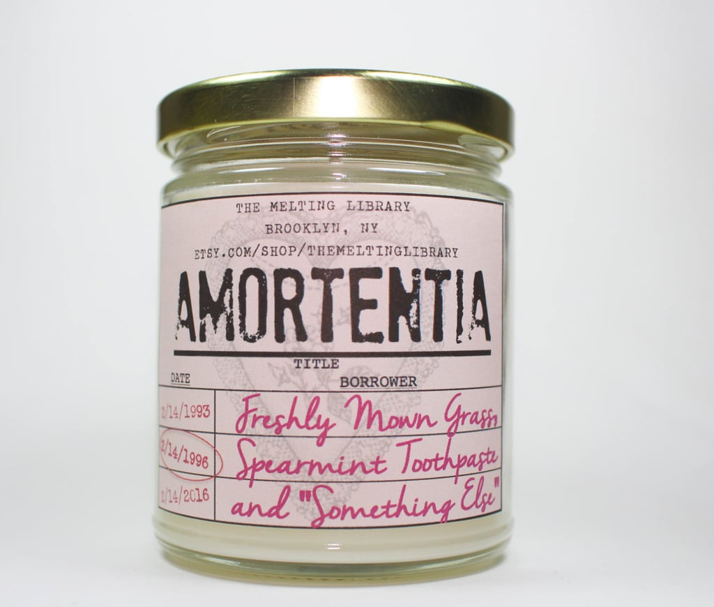 """Amortentia candle ($12) with fresh-cut sweet grass, clean spearmint toothpaste, and """"something else"""" notes"""