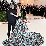 Amal and George Clooney at the 2018 Met Gala