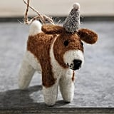 Alfie Beagle With Hat Christmas Ornament
