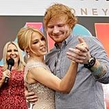 2015: Kylie Minogue and Ed Sheeran