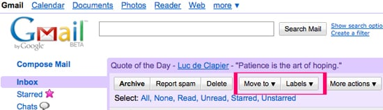 Gmail Adds New Buttons to Your Inbox