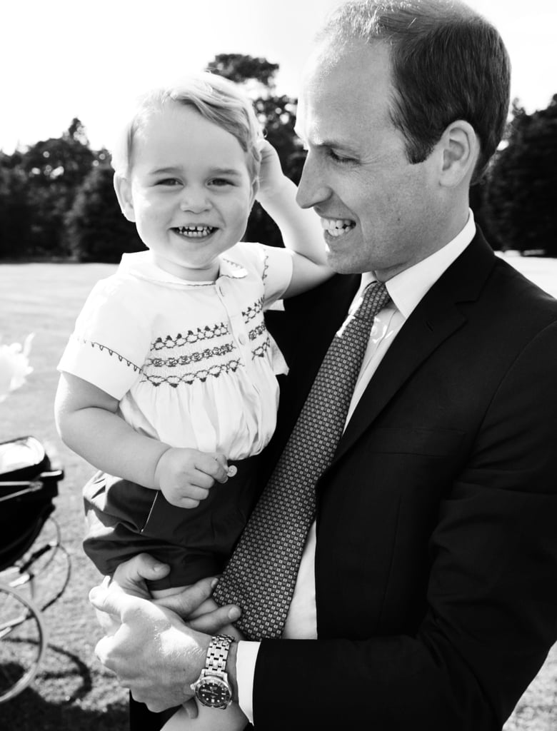 The adorable moments continued with one sweet capture of George with William.