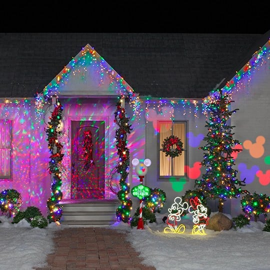 disney christmas lights popsugar home - Mickey Mouse Christmas House Decorations