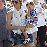 Selma Blair checked out the farmers market with her son, Arthur, in LA on Sunday.