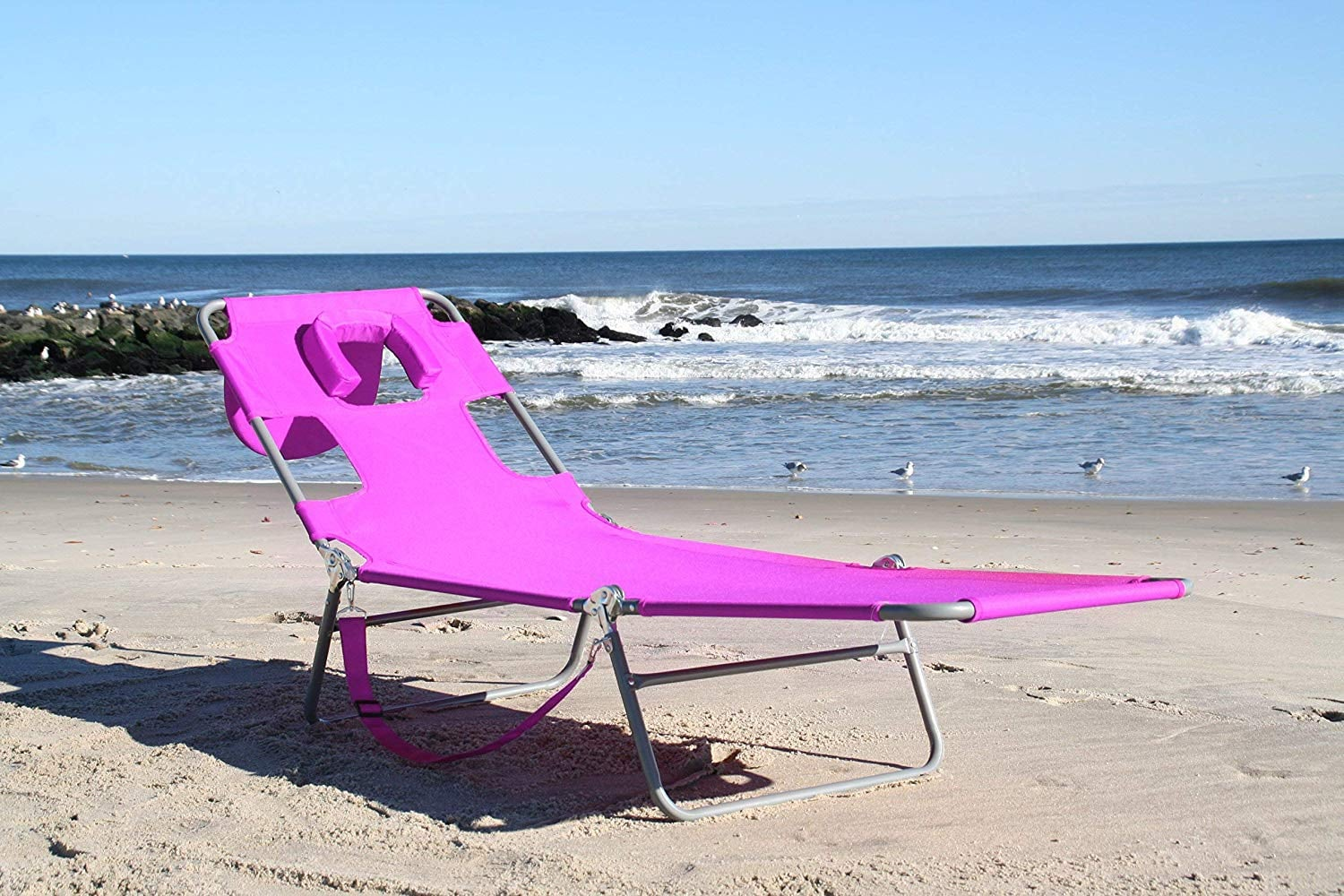 Buy The Ostrich Chaise Lounge In Pink This Beach Chair With A Face Hole Is A 1 Best Seller On Amazon So Yeah I M Sold Popsugar Smart Living Photo 8