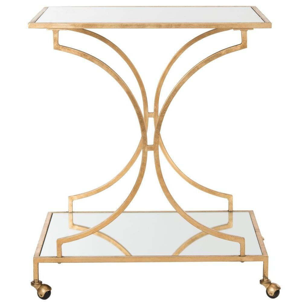 Ignatius Bar Cart in Gold ($200)