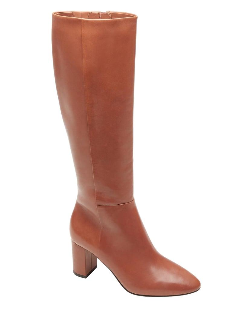 Tall Mid-Heel Zip Boot