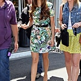 Nina Dobrev arrived at The Grove in Hollywood for an interview with Extra.