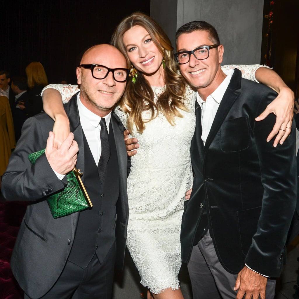Gisele Bundchen celebrated the opening of Dolce & Gabanna's flagship boutique with Domenico Dolce and Stefano Gabanna in NYC.