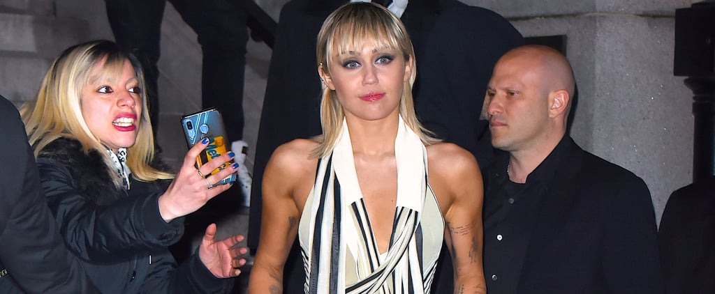Miley Cyrus's Scarf Crop Top After the Marc Jacobs Show