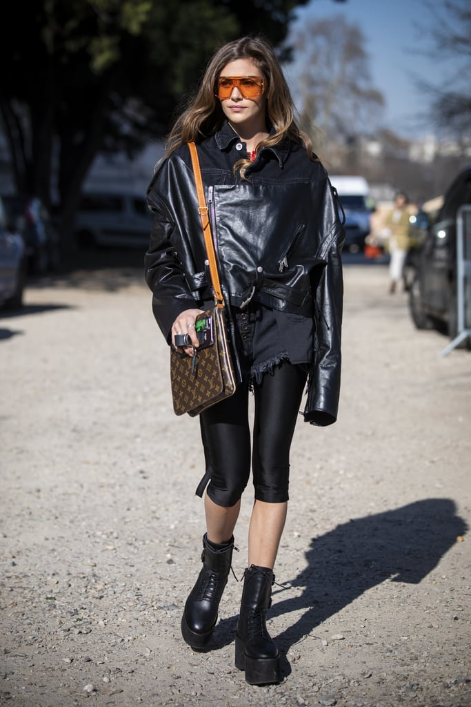 efba1f88 Crop Your Leggings and Layer Up With Shorts and Boots | How to Wear ...