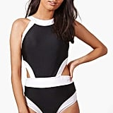 Boohoo Zoe Color-Block Cutout Swimsuit