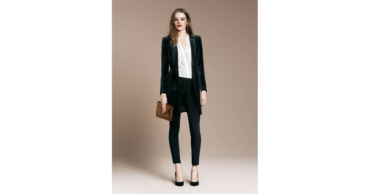 Try On A Man Style Tux Jacket For Androgynous Glamour Get Party Prepped Zara 39 S Evening Look