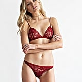 Mossman Red Lace Underwear Lace Set, $39.95