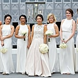 This bridal party was set to stun in all-white ensembles.
