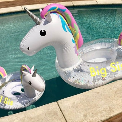 Mommy and Me Uniorn Pool Floats