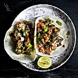 Jerked Sriracha Roast Pork Tacos With Kiwi Salsa Verde