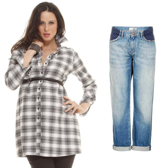 A striped button-down is a great option for an effortless look, but this Fall, we also love the idea of a flannel top ($98, originally $124). Pair it with boyfriend jeans ($90) for a match made in maternity heaven.