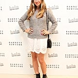 A dressed-down Jennifer Meyer joined Simon Doonan to support Hola at the Beverly Hills Barneys.
