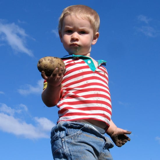 Dad Makes Toddler Hold Potato to Stop Tantrum