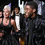 Pictured: Lady Gaga and Chadwick Boseman
