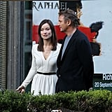 Liam Neeson filmed with Olivia Wilde in Rome.