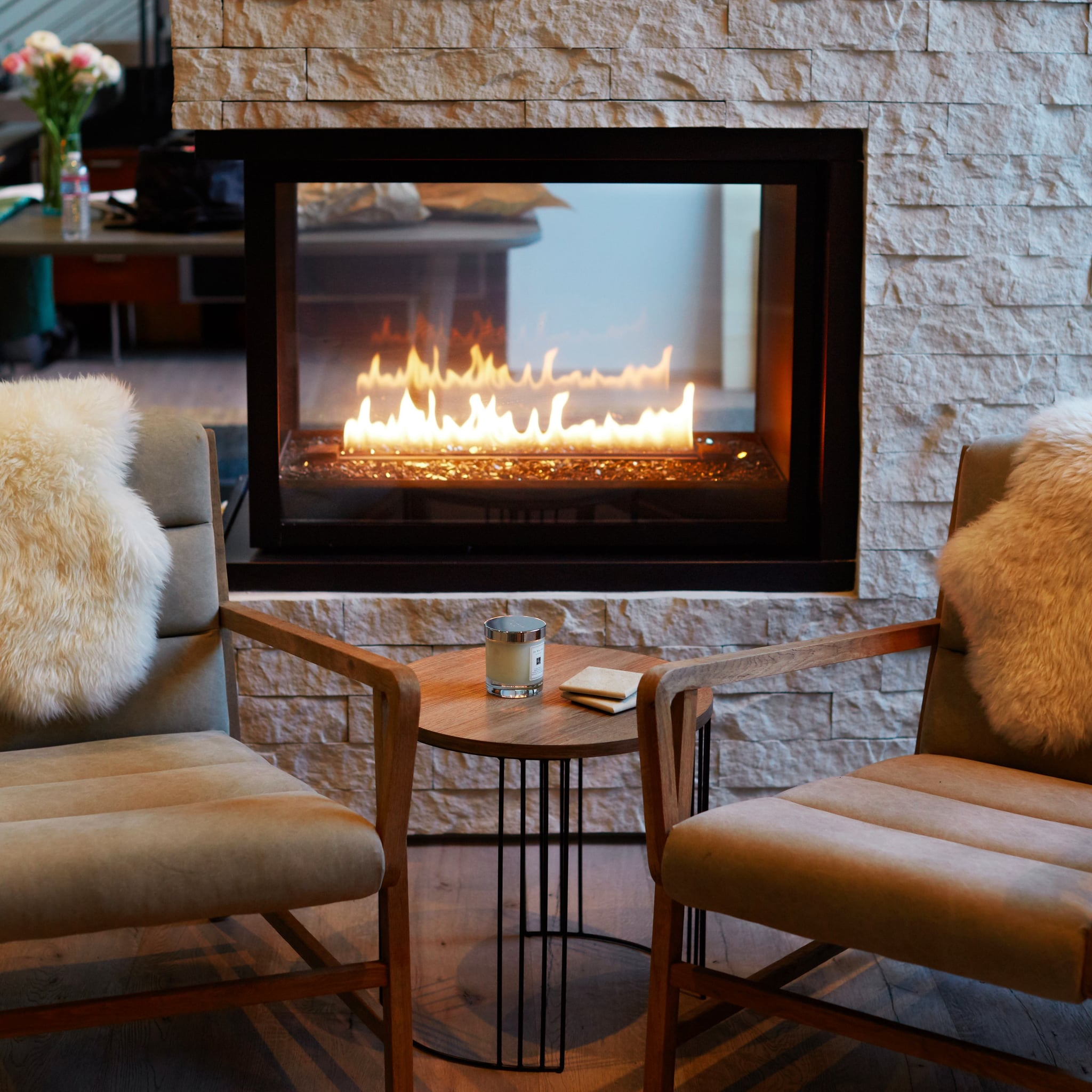 how to stack logs in a fireplace popsugar home